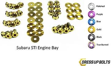 Gold Dress Up Bolt Kit for 2011-2014 Subaru Impreza WRX and STI (Engine Bay)