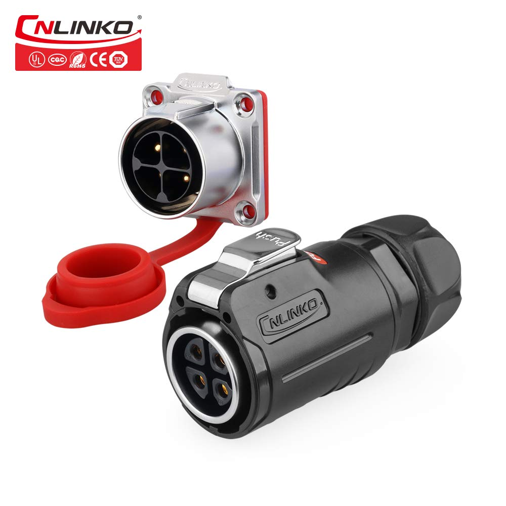 CNLINKO M24 Plastic Seasonal Wrap Introduction 4 Pin 25A IP67 Panel Max 68% OFF W Waterproof Electrical