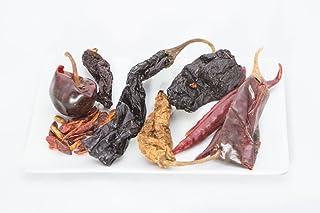 Paquete de colección de Chile Mexican Chile – 400 gr de Chiles mixtos de 50 gr de cada chipotle Morita, Chipotle Meco, Chile Arbol, Chile Puya, Chile Piquin, Chile Cascabel, Chile Pasilla, Chile Ancho