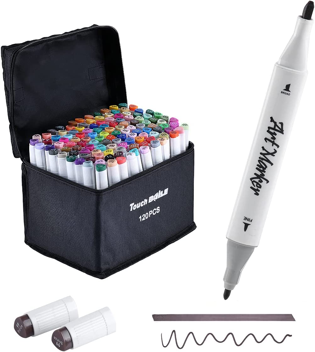 BAILE Drawing Brush Markers Double Ranking TOP19 Art Tipped Profession Max 60% OFF