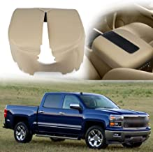 VANJING Center Console Cover Armrest Cover for 2007-2013 Chevy Avalanche Silverado Tahoe Suburban GMC Yukon Yukon XL Sierra(Leather Part Only) (Beige)