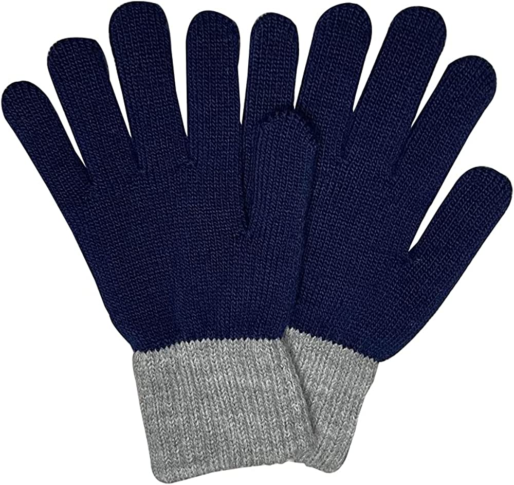 ATHX Unisex Knit Anti-Slip Thick Gloves Elastic Cuff with Touch-Screen Technology