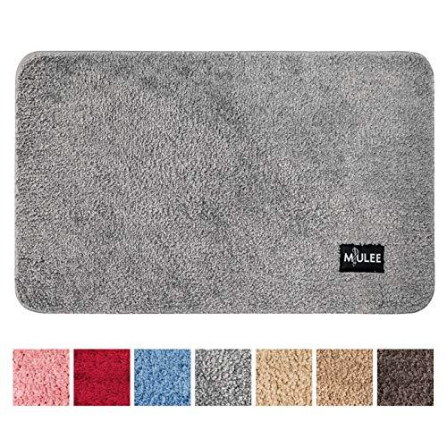 MIULEE Dekorative Teppiche Saugfähige weicher Rechteck mit hoher Hydroskopizität Modern Teppich für Wohnzimmer Schlafzimmer 40 X 60cm Grau
