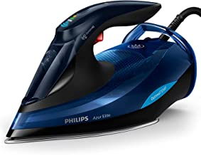 Philips Azur Elite Steam Iron with OptimalTEMP Technology, 240g Steam Boost & Safety Automatic Shut-Off, 2400W, Black/Blue...