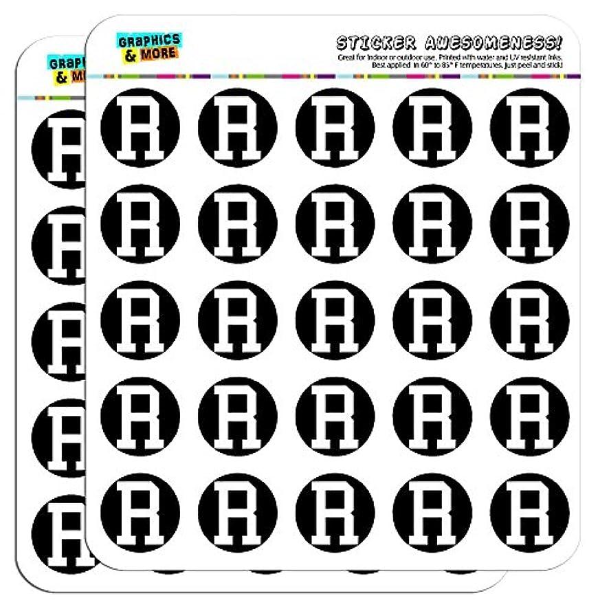 Letter R Initial Black White 1