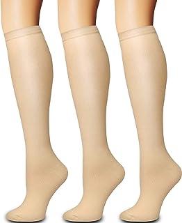 Best Compression Socks 3 Pairs - Compression Socks Women and Men - Best for Medical, Nursing, Running, Athletic, Flight Travel Review