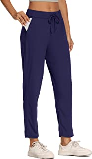 Willit Women's Lounge Sweatpants Golf Travel Pants 7/8 Casual Joggers Stretch Comfy On The Fly Pants