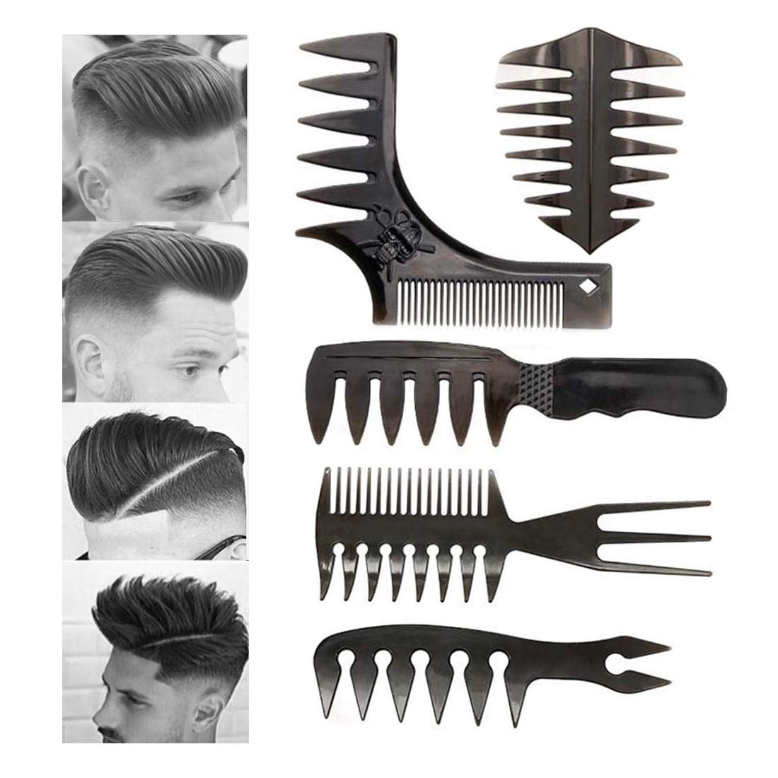 5Pcs Combs for Men Choice Professional Comb Max 62% OFF Styling Co Set Hair