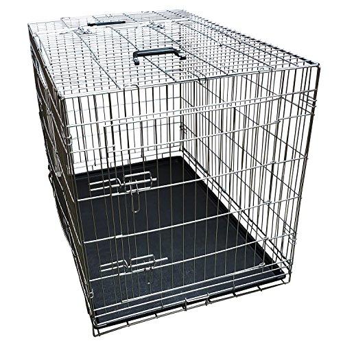 Nemaxx Transportbox Transportkäfig Drahtkäfig Klappbar Hundebox Hundekäfig Käfig Größe XXL in Silber