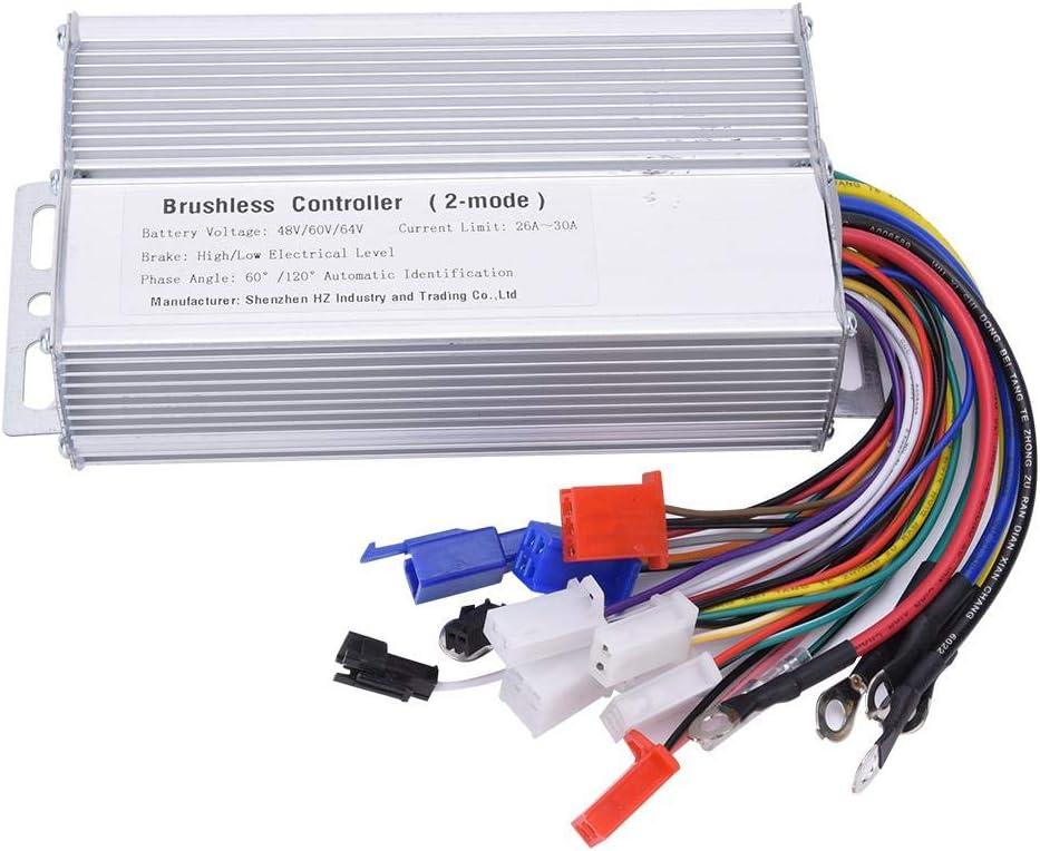 Alomejor 48V / 60V/64V/1000W-1500W Controlador de Cepillo de Velocidad del Motor Controlador de Velocidad