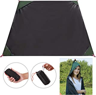 REDCAMP Small Camping Tarp Shelter Ultralight and Waterproof PU2000, Multi-Purpose Tent Tarp Footprint for Sports,Beach,Survival,Picnic,Hiking