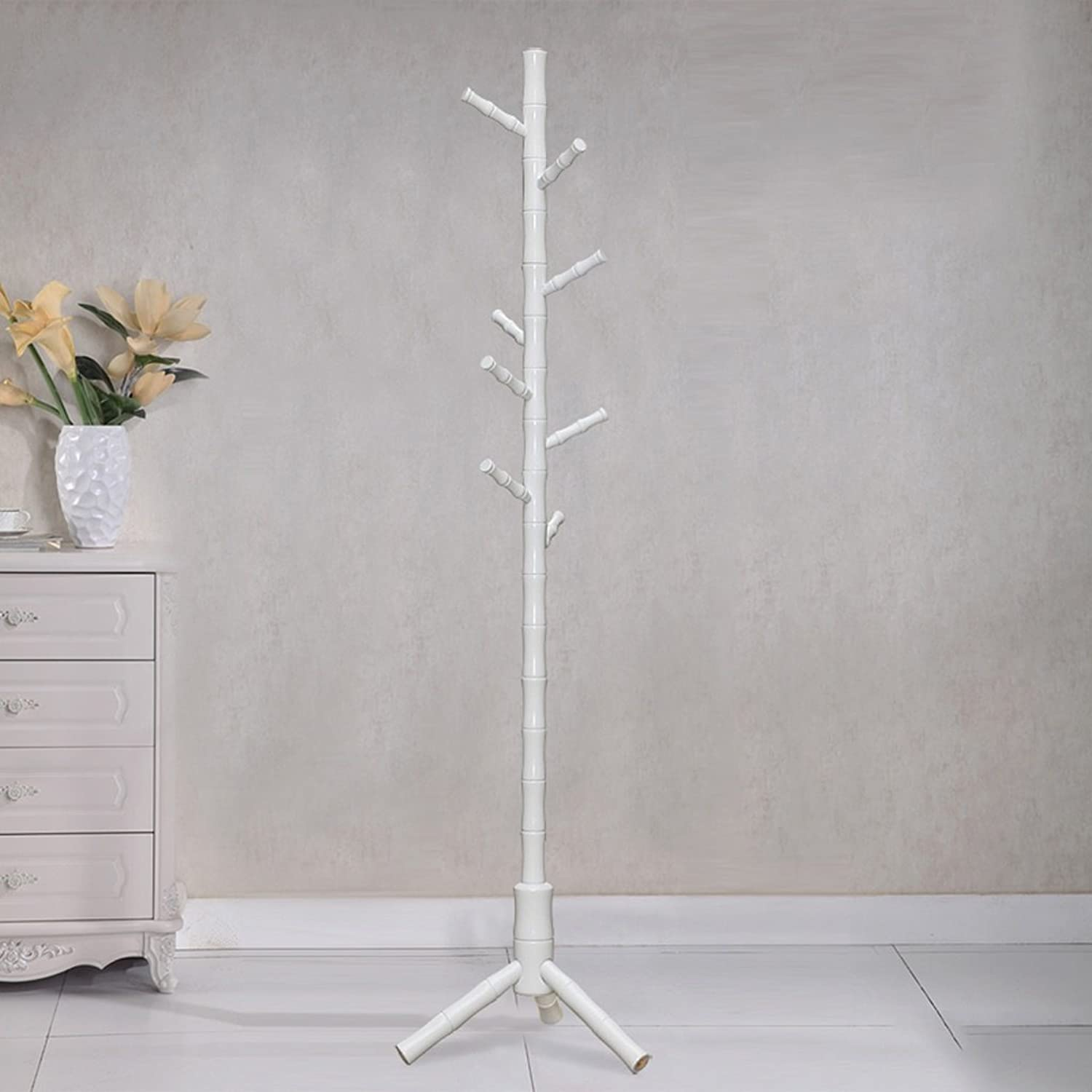 AIDELAI Coat Rack Solid Wood Hat Fashion Modern Bedroom European Style Clothes Rack (color   L)