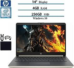 HP 2019 Newest Premium 14 Inch Laptop Notebook Computer, Intel Core i3-7100U, 4GB DDR4 RAM, 256GB SSD, WiFi, Bluetooth, HDMI, Windows 10 W/ Accessories Bundle