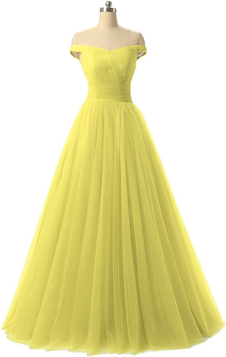 JudyBridal Women Aline Tulle Prom Formal Evening Homecoming Dress Ball Gown