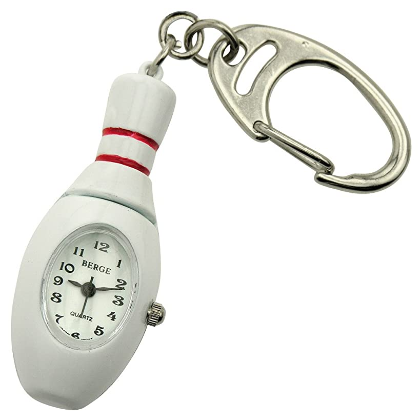 JAS Unisex Novelty Belt Fob/Keychain Watch - Bowling Pin