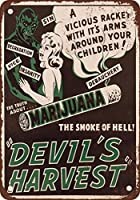 1942マリファナの悪魔の収穫のヴィンテージの外観の複製メタルティンサイン
