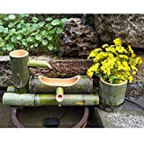 YXZQ Bambusbrunnen Gartendeko Feng Shui Wasserfall Funktion
