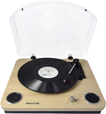 PRIXTON Marconi - Tocadiscos de Vinilo Vintage, Reproductor de ...