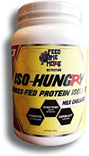 ISO-Hungry #1 Natural Grass Fed Stevia Whey Protein Powder Great Tasting (Chocolate, 2lb) 30 Servings Low Carb/Keto Friendly