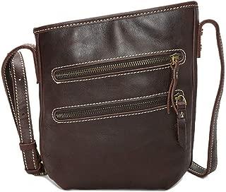 Mens Bag School and Work Men's Messenger Shoulder Bag Vintage Leather Briefcase Crossbody Day Bag High capacity