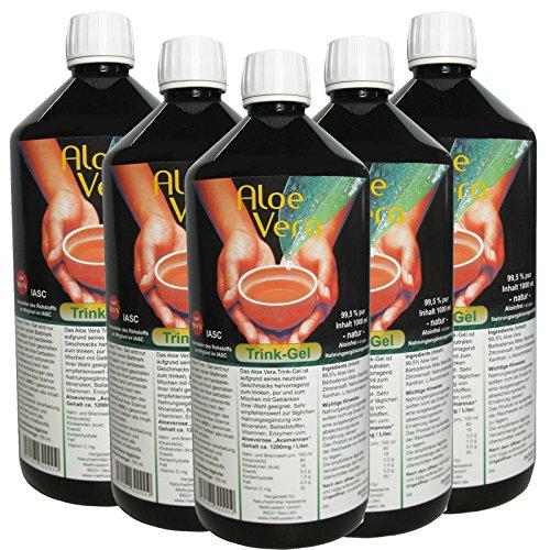 Aloe Vera Trink-Gel 99.5% natur pur 5 Liter Vorratspack. 30002