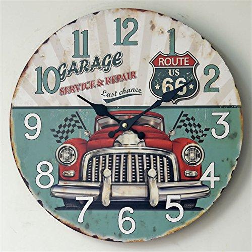 """Joybuy 14""""reloj de pared números de coche Vintage Retro redonda mad"""