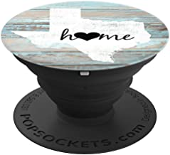 Texas Rustic Home Pride US State Distressed Look - PopSockets Grip and Stand for Phones and Tablets