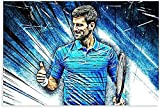 Leinwand kunst 30x45cm Kein Rahmen Tennisspieler Novak