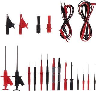 HELYZQ Conjunto de acessórios multímetro para teste de carro, 4 mm, kit de sonda de clipes jacaré