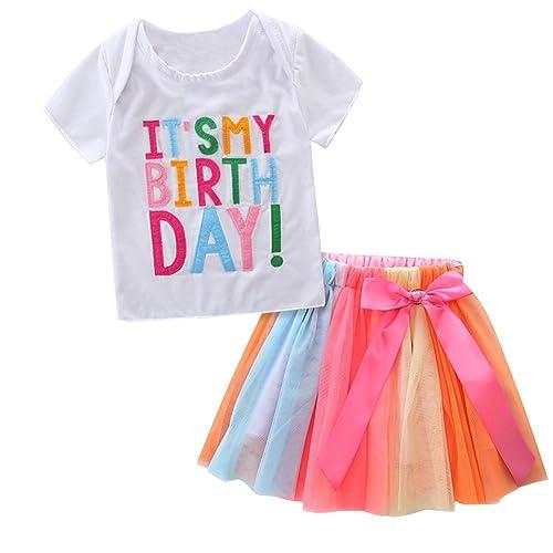 Dress Skirt Outfit Clohes US Stock Kids Toddler Baby Girls Long Sleeve T-shirt