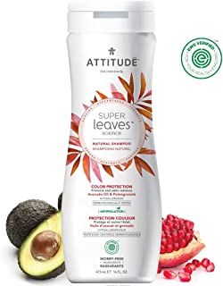 ATTITUDE Shampoo for Color-Treated Hair, EWG Verified, SLS & PEG Free, Vegan + Cruelty-Free, Avocado Oil & Pomegranate, 16 Fluid Ounce
