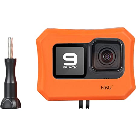 HSU Floaty Case for GoPro Hero 9 Black, Floating Case with Long Screw for Snorkeling, Surfing, Wakeboarding, GoPro Hero 9 Accessories