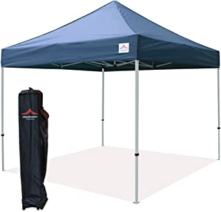 UNIQUECANOPY 10'x10' Ez Pop Up Canopy Tent Commercial Instant Shelter, with Heavy Duty Roller Bag, 10x10 FT Navy Blue