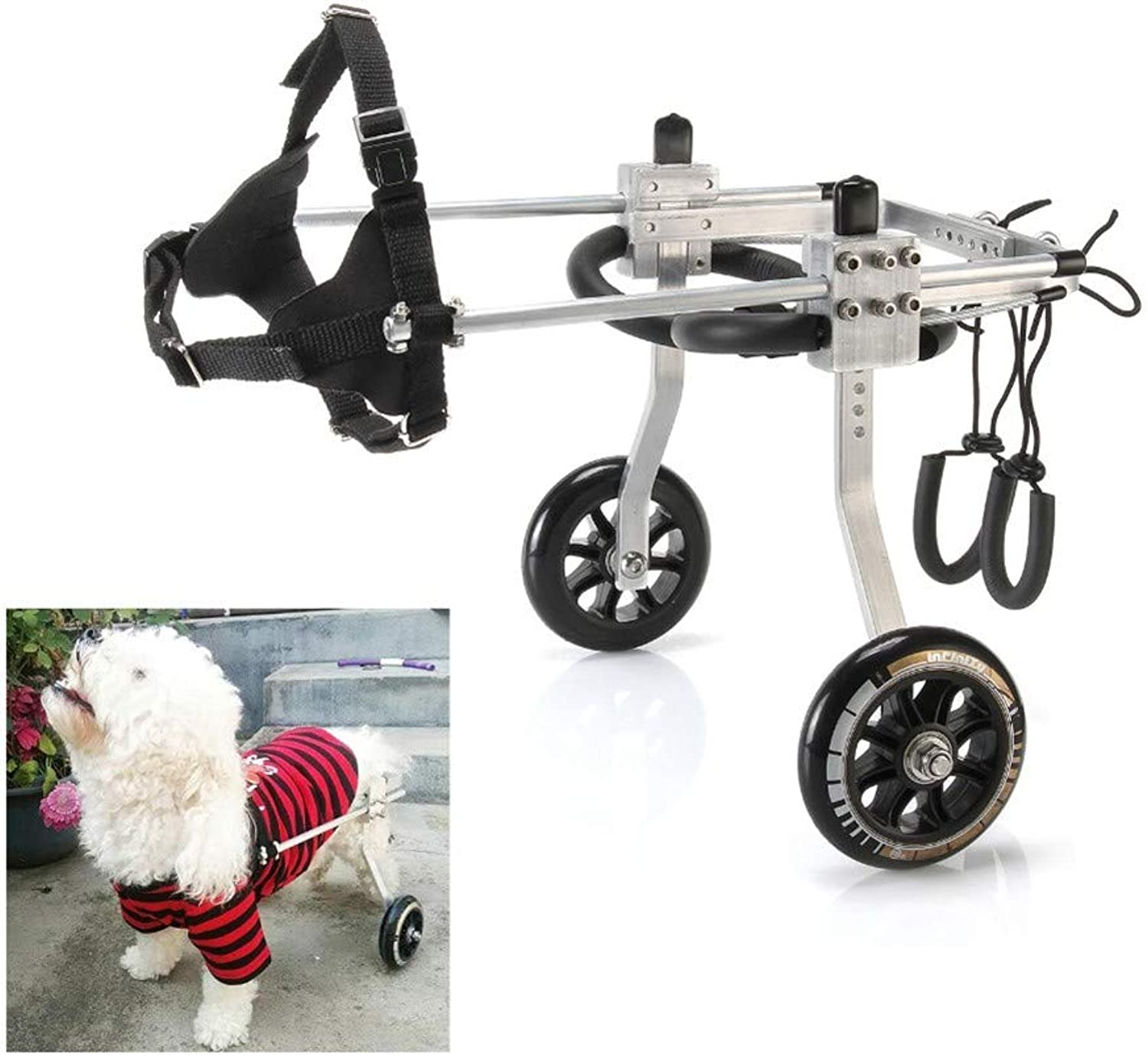 BEST WALKING Adjustable Dog Wheelchair Paralyzed Hind Leg