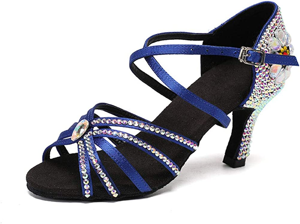 Ladies Cross Strap Our shop most popular Buckle Satin Rhinesto Very popular Shoes Latin Shiny Dance