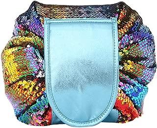L.TSAトラベルウォッシュ収納袋両面スパンコール巾着化粧品袋怠zyな大容量収納袋旅行化粧品袋、バースト