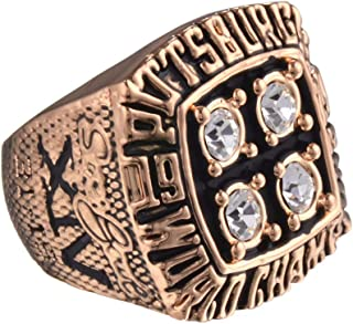 Adiauto 1979 Year Mens Pittsburgh Steelers Super Bowl Championship Rings