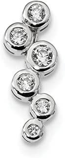 925 Sterling Silver Cubic Zirconia Cz Slide Necklace Pendant Charm Omega Fine Jewelry Gifts For Women For Her