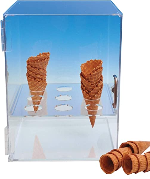 Cone Cabinet For Sugar Or Waffle Cones Choice Acrylic Display Brand Includes Free Grocery Tote