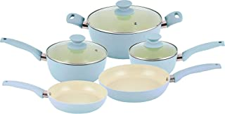 IKO 8-pc. Crema Collection Cookware Set One Size Blue CRS0108B