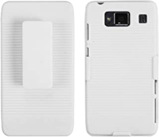 MYBAT MOTXT926MHBHOLSFTTR13NP Shell Holster Combo Case for Samsung Galaxy with Kick-Stand and Belt Clip for Motorola Droid Razr Maxx HD XT926M - Retail Packaging - Solid Ivory White