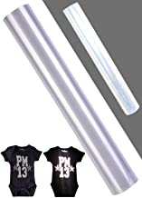 Reflective Heat Transfer Vinyl Roll DIY Heat Press Design HTV for T-Shirts or Outdoor Clothing 12 in x 2 Yards Iron on Vin...
