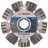 Bosch Professional Diamanttrennscheibe (für extrem hartes Gestein, Ø: 115 mm, Zubehör für Winkelschleifer)