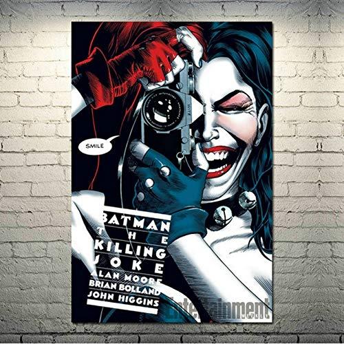 Puzzle 1000 Piezas Harley Quinn Comics Película Pintura Imagen Obra Pintura Puzzle 1000 Piezas educa Juego de Habilidad para Toda la Familia, Colorido Juego de ubicación.50x75cm(20x30inch)