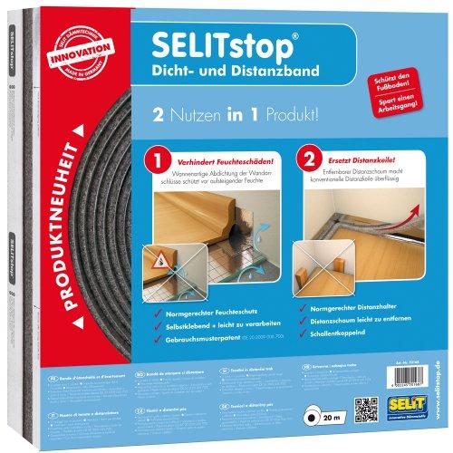 Selit 70168 Selitstop Dicht- und Distanzband, anthrazit/silber