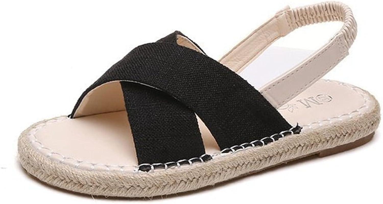 GIY Womens Fashion Criss Cross Strappy Flat Sandals Adjustable Elastic Ankle Strap Platform Sandal