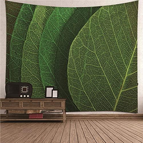 KnBoB Tapiz para Pared Tema de la Planta de Hojas Verdes 150x150 CM Tejido Poliéster Impresión Digital Decoracion Salon Modernos