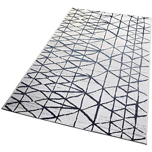 In- und Outdoor-Teppich White Drifting Network 120x170cm für Innen und Außen