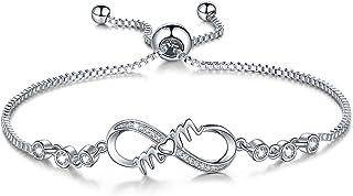 Infinity Symbol Charm Bracelet for Women Adjustable...
