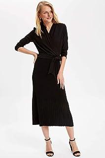 DeFacto Volan Yakalı Pilili Elbise